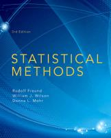 Statistical Methods 3rd edition