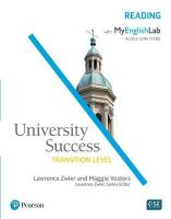 University Success Reading, Transition Level, with MyEnglishLab