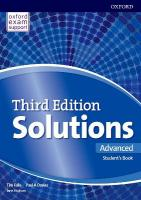 Solutions 3e Advanced Students Book Pack Component 3rd Revised edition