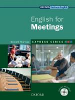 Express Series: English for Meetings: A Short, Specialist English Course