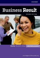 Business Result: Starter: Student's Book with Online Practice: Business English you can take to work <em>today</em> 2nd Revised edition