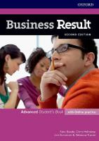 Business Result: Advanced: Student's Book with Online Practice: Business English you can take to work <em>today</em> 2nd Revised edition