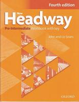 New Headway: Pre-Intermediate A2 - B1: Workbook with Key: The world's most trusted English course 4th Revised edition