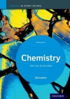 Oxford IB Study Guides: Chemistry  for the IB Diploma 2014 2014 Edition