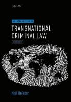 Introduction to Transnational Criminal Law 2nd Revised edition