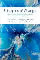 Principles of Change: How Psychotherapists Implement Research in Practice