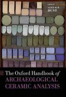 Oxford Handbook of Archaeological Ceramic Analysis