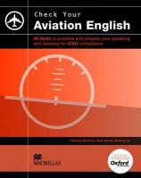 Check Your Aviation English Pack: SB plus Audio CD