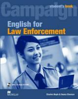 English for Law Enforcement Student's Book Pack: Student Book with CD-ROM