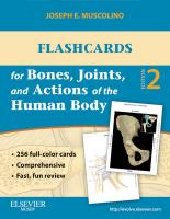 Flashcards for Bones, Joints, and Actions of the Human Body 2nd Revised edition