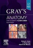 Gray's Anatomy for Students Flash Cards 4th Revised edition