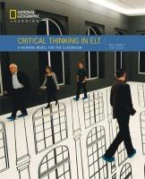 Critical Thinking in ELT: A Working Model for the Classroom New edition