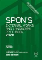Spon's External Works and Landscape Price Book 2020 39th New edition