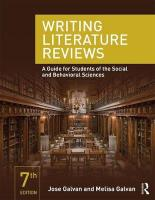 Writing Literature Reviews: A Guide for Students of the Social and Behavioral Sciences 7th New edition
