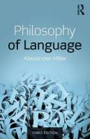 Philosophy of Language 3rd New edition