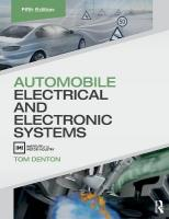 Automobile Electrical and Electronic Systems 5th New edition