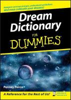 Dream Dictionary For Dummies illustrated edition