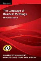 Language of Business Meetings, The Language of Business Meetings