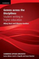 Genres across the Disciplines: Student Writing in Higher Education, Genres across the Disciplines: Student Writing in Higher Education
