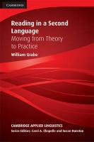 Reading in a Second Language: Moving from Theory to Practice, Reading in a Second Language: Moving from Theory to Practice