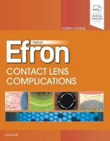 Contact Lens Complications 4th Revised edition