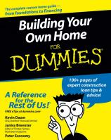 Building Your Own Home For Dummies illustrated edition