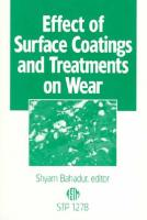 Effects of Surface Coatings and Treatments on Wear