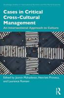 Cases in Critical Cross-Cultural Management: An Intersectional Approach to Culture