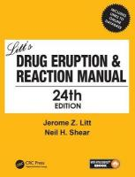 Litt's Drug Eruption & Reaction Manual 24E 24th New edition