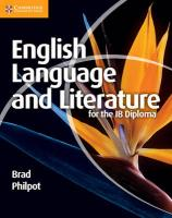 IB Diploma, English Language and Literature for the IB Diploma