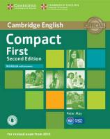 Compact First Workbook with Answers with Audio 2nd Revised edition