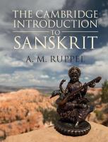 Cambridge Introduction to Sanskrit