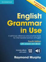 English Grammar in Use Book with Answers and Interactive eBook: Self-Study Reference and Practice Book for Intermediate Learners of English 4th Revised edition
