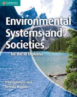 IB Diploma, Environmental Systems and Societies for the IB Diploma