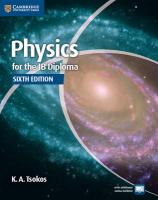 Physics for the IB Diploma Coursebook 6th Revised edition, Physics for the IB Diploma Coursebook