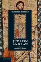 Cambridge Companions to Religion, The Cambridge Companion to Judaism and Law