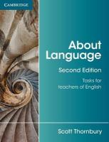 About Language: Tasks for Teachers of English 2nd Revised edition