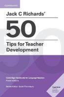 Jack C Richards' 50 Tips for Teacher Development: Cambridge Handbooks for Language Teachers