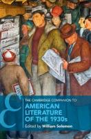 Cambridge Companions to Literature, The Cambridge Companion to American Literature of the 1930s