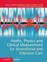 Maths, Physics and Clinical Measurement for Anaesthesia and Intensive Care