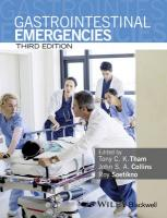 Gastrointestinal Emergencies 3rd Edition