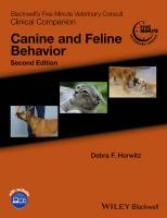 Blackwell's Five-Minute Veterinary Consult Clinical Companion: Canine and Feline Behavior 2nd Edition