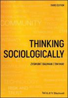 Thinking Sociologically 3rd Edition