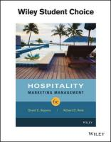 Hospitality Marketing Management 6th Revised edition