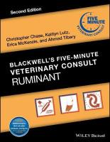 Blackwell's Five-Minute Veterinary Consult: Ruminant 2nd Edition