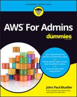 Aws for Admins for Dummies 2nd Revised edition
