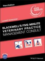 Blackwell's Five-Minute Veterinary Practice Management Consult 3rd Edition