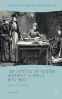 History of British Women's Writing, 1830-1880: Volume Six 1st ed. 2018