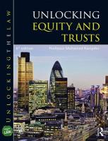 Unlocking Equity and Trusts 6th New edition