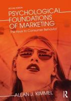Psychological Foundations of Marketing: The Keys to Consumer Behavior 2nd New edition